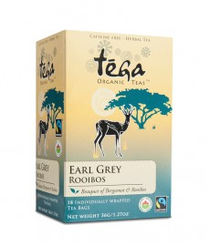 Organic Tega Earl Grey Rooibos (Single Box of 18 Tea Bags)