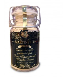 Pure Granulated Maple Sugar - Metal Snap Lid Glass Jar Fine (150g)